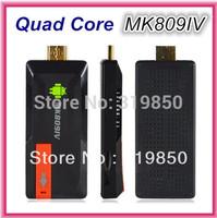 Update MK809IV Quad Core RK3188 Smart TV Box Android 4.4.2 2GB RAM 8GB 1.8GHz Max Bluetooth Wifi Google TV Player HDMI MK809 IV