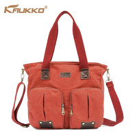5 colors 2 exterior zipper pockets rivets women messenger bags canvas hanadbag new 2013 shopping bag Kaukko brand  FJ30