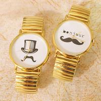 Creative retro the bearded watch fashion belt watch Birthday gift /watches man/Free shipping