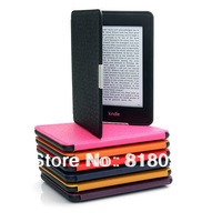 New arrival! slim smart PU leather cover case for Amazon kindle paperwhite Wholesale 1pcs/lot Free shipping