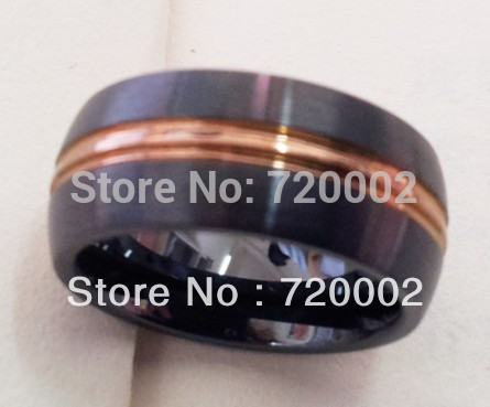 Free Shipping Dragon Ceramic Ring Mens Jewelry Wedding Band Gold Plated Ring Hot Item LTF-126(China (Mainland))