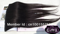 "Queen hair New arrival 5pcs lot 20"" 24"" 100% straight brazilian human hair 3 clip in extensions color 1b free shipping"
