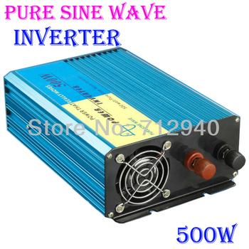 HOT SALE!! 500W Off Grid Inverter Pure Sine Wave Inverter DC12V or 24V or 48V input, Wind Solar Power Inverter Series for Home