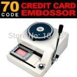 70characters Professional ID Membership Manual  PVC Plastic Card Embosser Embossing Machine