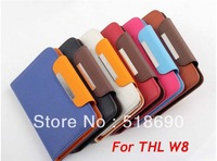 2 Colors For Each Fashion Universal Wallet Leather Case For THL W8 Smatphone Freeshipping