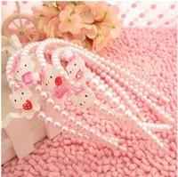 1PCS Free shipping ! Hair clasp Cute hello kitty pearl princess hairbands children baby kid's hair accessories