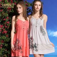 High Quality 100% Cotton brand sleepwear women 2015 Summer Pajamas for Women Nightgown onesies for adults pyjamas women Pijama