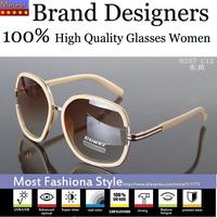 Elegant Fashion High Quality Glasses Good Polycarbonate Lens Fatigue Resistance Brand Designers Womens Sunglasses Vintage Oval