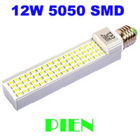 G24 led lamp E27 12W PL 5050 corn bombillas 60 leds PL home lighting G23 2 Bipin 85V-265V High Power Free Shipping 1pcs