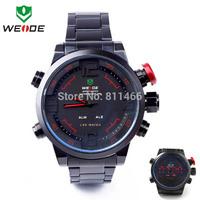 Men Dress Quartz big size Watches Fashion Weide Sport LED Watch For Men Top Selling Steel Wristwatch-2309