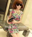 2013 Novelty Sexy Fashion Flower Ladies Summer Sheath Mini Dress For Party(China (Mainland))