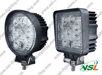 2pcs round/square 4'' 27W LED work Light spot/flood lamp motorcycle Tractor ATV, truck, mining