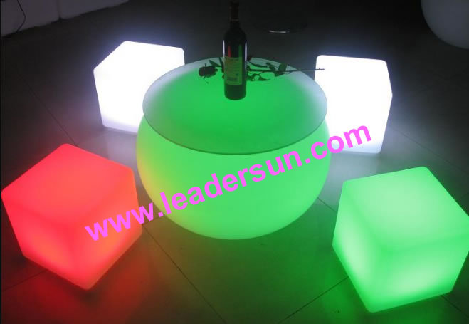 20cm LED Cube/Stool Bedroom Children Stool LDX-C05(China (Mainland))