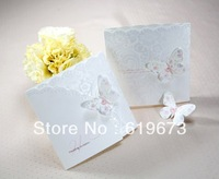 Butterfly Wedding Invitation cards200 PCS Printable and Customizable +DHL FEDEX UPS Wholesale Free Shipping