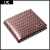Promotion! Most value Quality assurance Cowhide wallet,Men's soft  PLAIDS leather wallet,man purse/wallet for men whosale price