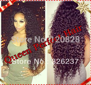 130%-150% heavy density Top Quality Virgin Brazilian Glueless Full Lace Wigs Kinky Curly Remy Human Hair for Black Women