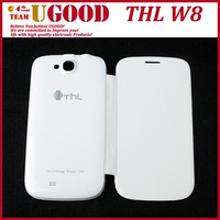 Hot Selling Durable Protective PU & Plastic Case Cover for THL W8 White/Black