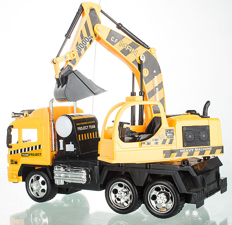 Free Shipping RC mechanical digger big size car  drift