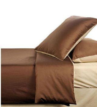 Environmental protection nature tea fiber bedding sets beige brown color queen king size comforter  4 pcs  bedding set