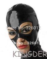 Fashionable latex hood rubber mask 100% pure nature handmade latex
