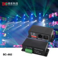 DMX512 Decoder Dream Color Decoder support WS2801,WS2803 driving IC;DC5V-24V input DMX Controller