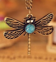 Fashion Vintage Dragonfly Necklace wholesale ! for women fashion statement jewelry XY-N60