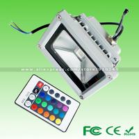 High Quality Aluminum 10W 20W 30W 50W AC85-265V WW/CW/RGB 16 Colors Outdoor Landscape Reflector LED Flood Light LED Garden Lamp