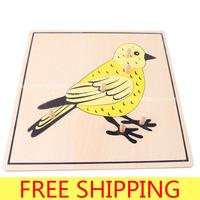 Montessori teaching aids animal puzzle bird puzzle b080