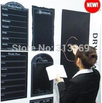 45*200CM Wall Paper Decor wall sticker blackboard sticker Removable with whiteboard pen as bonus 150pcs/lot