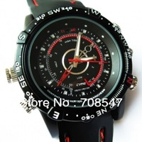 Free Shipping 8GB High Definition 720*480 Waterproof Fashion  Watch Digital Video Recorder with Hidden Camera