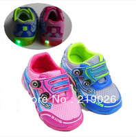2014 Hot Sales Flashing LED Lights Children Shoes Comfortable Casual Sweet Kids Sandals for baby girls and boys