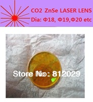 Diameter 19mm CO2  ZnSe optical lens different focus length for laser engraving, laser cutting machine, laser system