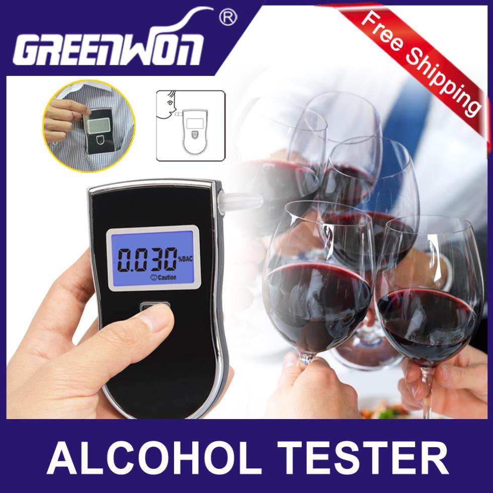 5pcs/lot 2014 patent portable digital mini breath alcohol tester wholesales a breathalyzer test with 5 mouthpiece in AT818(China (Mainland))