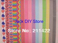 Custom Link Rainbow Chevron Polka Dot FOE Fold Over Elastic 50 Yards/roll 1.5cm width headband Hair Accessories Free Shipping