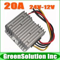 Free Shipping 10pcs/lot 240W DC to DC Car Power Converter 24V 12V 20A DC DC Converter