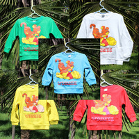 children clothing 4pcs/lot 5color 1~5Age shirts for boys Tops long sleeve FREE SHIPPING
