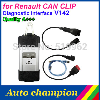 Crazy buy !!! 2015 for renault CAN CLIP Diagnostic Interface V142 can clip v142 Newest Version Fast Express FreeShipping !!!