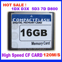 CF CARD 16GB  120M/S High Speed  Compact Flash Card 16GB For 1DX 1D4 2D 5D3 7D D800 +Free Shipping