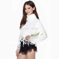 FREE SHIPPING NEW Sweet temperament lace trim black Slim sexy high waist shorts women S-XXL