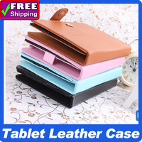 A variety of colors PU Leather Case Cover for 9 inch 9.7inch 10 inch Tablet PC Multi-angle Viewing free shipping