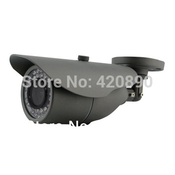 Free Shipping CCTV bullet camera, 3.6mm, 24pcs IR LED, IR CUT, Weatherproof Indoor/ Outdoor with bracket,