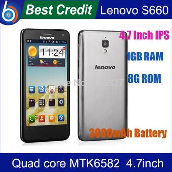 "8GB TF card)gift!Original Lenovo S660 s668T MTK6582 Quad Core 3G Smartphone 4.7""inch  IPS 8GB Rom WCMDA  GPS 8.0MP Russian/Kate"