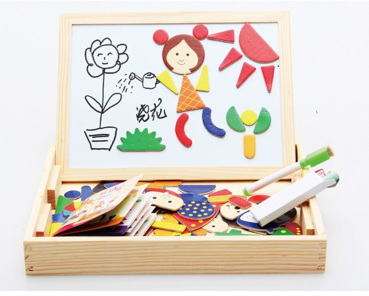 Magnetic Wooden Educational Toys For Child Double-faced