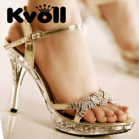 Free shipping Kvoll 2012 Newest Beauty Sexy dress shoes,Ladies Sexy Vogue High Heel Sandals L60326 Crystal Fashion lady sandals