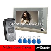 Wired 7 inch TFT LCD Monitor Color Video Door Phone DoorBell Intercom Entry System 700tvl Metal Camera keyfob ID Card Unlock