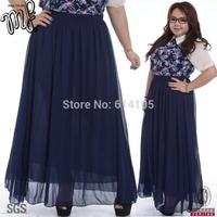 American Apparel  Summer 2014 High Quality Plus Size Women Long Maxi Skirt Bohemian Chiffon Skirts saia longa