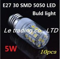 10PCS 5W E27 5050 SMD 220V Warm White LED Spot Light Bulb Lamp Free Shipping