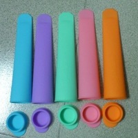 10 Pcs FDA SGS Silicone Push Up Ice Cream Jelly Lolly Pop For Popsicle Maker Mould Mold