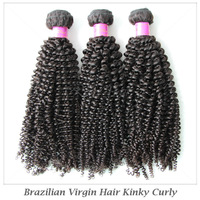 "5A Grade Brazilian Kinky Curly Hair Extensions,3Pcs/lot Mixed 12""-28"" Virgin Brazilian Human Hair Kinky Curl Weave Bundles"