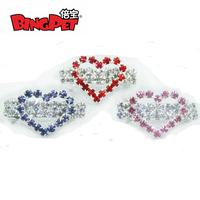 Free Shipping(12PCS/lot) Heart shape dog Barrette,Pet Accessories,Pet Barrettes,pet hairclip mix 3 colors